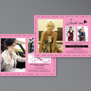 Promotional cards available with design and printing