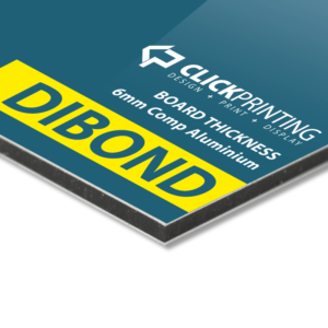 Dibond signage - ideal for permanent sign display, used for shopfronts etc.