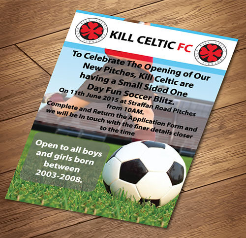 A3 Leaflets / Flyers printed and designed