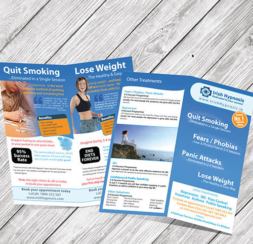 4pp DL Brochure design and printing available in dublin | Kildare | Cork | Galway and Limerick