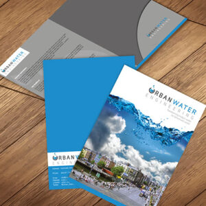 Presentation folders are printed on 350gsm silk with optional laminate, design of presentation folders available