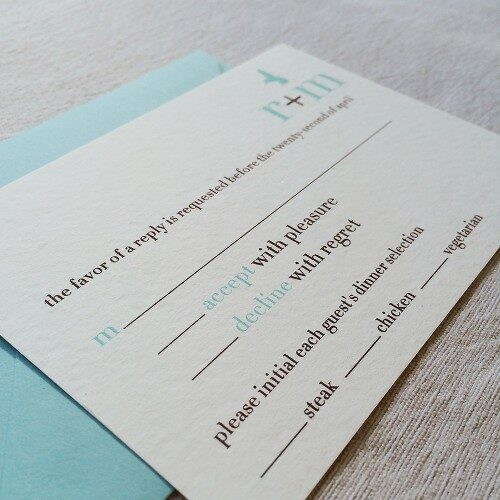RSVP Cards with optional envelopes