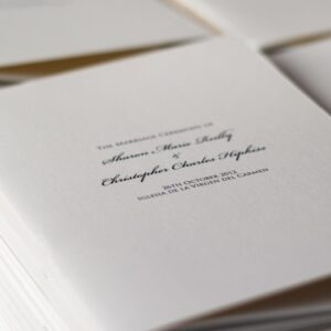 Wedding mass booklets - mass booklets to suit all weddings