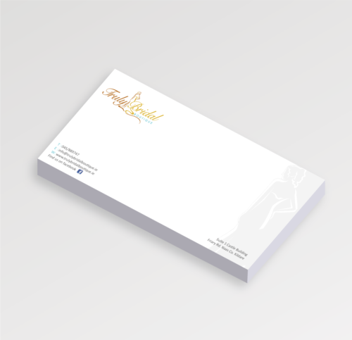 DL Compliment slip printing on 120gsm or 1700gsm laser bond paper. Clickprinting.ie for DL Compliment slip design