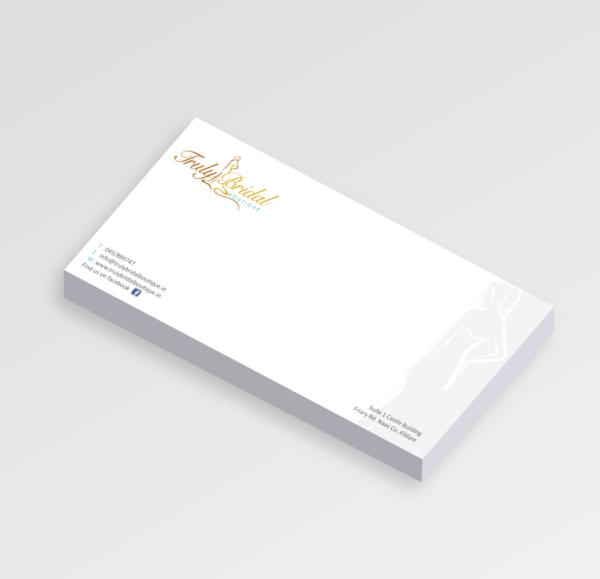 DL Compliment slip printing on 120gsm or 1700gsm laser bond paper. Clickprinting.ie for DL Compliment slip design