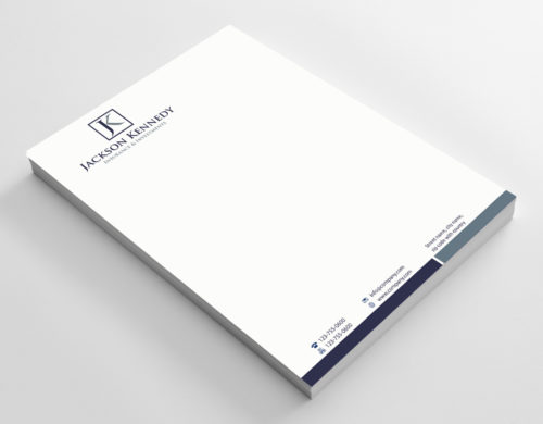 Letterheads printed on 120gsm laser bond, single or double sided. Design by Clickprinting.ie available.