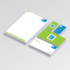 Business Starter pack include A4 letterheads, DL Compliment Slips and Business Cards
