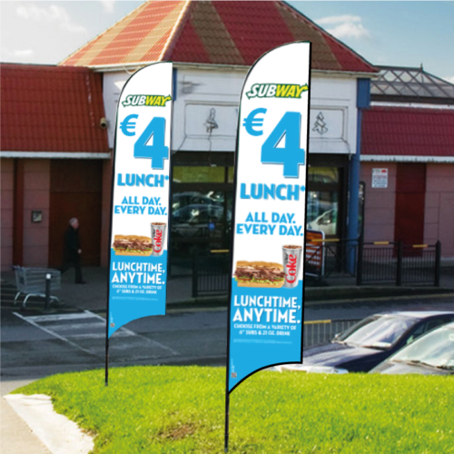 Feather Flags - Flag Banners 2mtr, 3mtrs, 4mtrs and 5mtrs in height