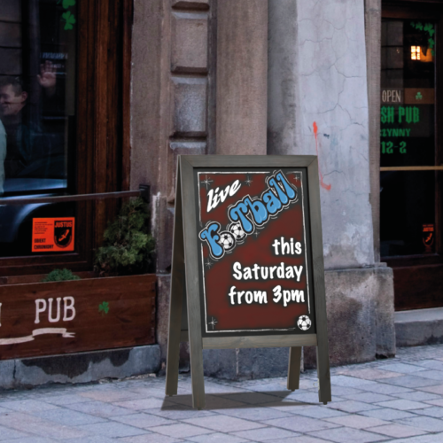 Traditional Chalk Board for show casing live events and daily specials, available large or small